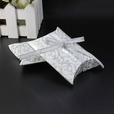 50/100X Pillow Shape favor Gift Box Wedding Party Cake Printing Candy Decor Box