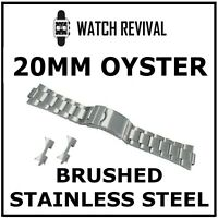 HIGH QUALITY 20MM BRUSHED STAINLESS STEEL BRACELET FOR ROLEX OYSTER GENTS