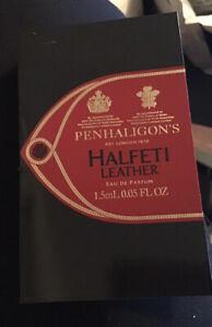 Penhaligon's Halfeti Leather Eau De Parfum Carded Sample 1.5ml