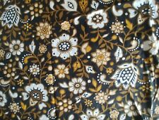 """MCM black/gold/white oval tablecloth approx 82"""" x 58"""""""