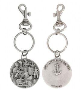 Porté clé Porte-Clés en métal 3D ( relief ) TROUPES DE MARINE France TDM T.D.M