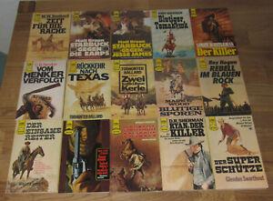 15 Heyne Western Taschenbücher aus den 1960er, 1970er und 1980er Jahren