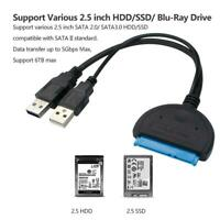 USB 3.0 To SATA Cable Hard Disk Adapter 2.5 / 3.5 Inch Drive HDD SSD Converter