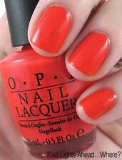 NEW! OPI Nail Polish Vernis RED LIGHTS AHEAD WHERE? ~ Coral - Red ~ Dutch Coll
