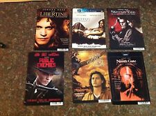 6 JOHNNY DEPP Backer card mini poster NO DVD sweeney todd vintage !.