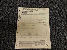 Kenwood DV-303 DVF-5020 K5020 CD DVD VCD Disc Player Original Service Manual