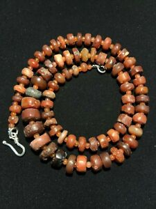 Indy valley ancient carnelian beads necklace Necklace #2- Asia 500 -10