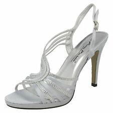 Ladies Anne Michelle Diamante Trim Open Back 'Heels'
