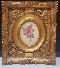 Windsor Art Products 1989 Framed Print AZALEA VARIEGATA Carved Gold Wood Frame