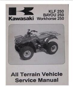 2003-06 Kawasaki KLF250 Bayou250 Workhorse250 Service Shop & Repair Manual On CD