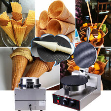 Commercial Electric Nonstick Regular Ice Cream Waffle Cone Maker Baker Machine.#