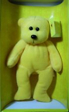 "SKANSEN BEANIE KID ""GOLDIE THE YELLOW 26 cm BEAR LIMITED EDITION, MINT IN BOX"
