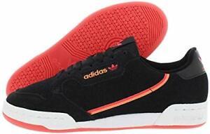Adidas Men's Continental 80 Sneakers, Core Black / Real Lilac / Orange