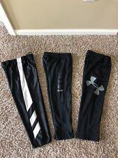 LOT Boys Pants Size 6/7 Black Under Armour Nike Elite