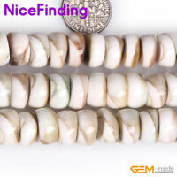 """Natural White Sea Shell Stone Beads For Jewelry Making Loose Beads Strand 15""""DIY"""