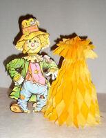 Vintage BEISTLE Honeycomb Autumn Decoration Scarecrow Cornstalk1979