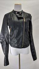 Women's - SUZY SHIER Black Faux Leather Jacket - Black - Size Small