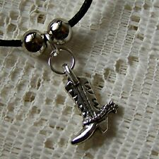 COWBOY _ BOOT _WITH _ SPURS   ~  PENDANT  ~   NECKLACE -- (GREAT_GIFT)