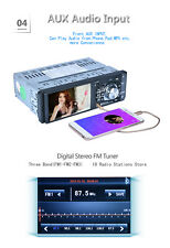 "4.1"" 1-DIN AUTORADIO BLUETOOTH FM STEREO AUTO LETTORE MP5 USB AUX TF CARD 1080P"