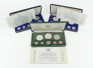 1972 Trinidad & Tobago, 1975 Jamaica, 1975 Philippines 8 Coin Proof Sets 3pc Lot