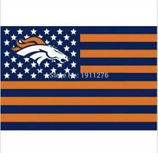 Denver Broncos 3x5 Ft American Flag Football New In Packaging