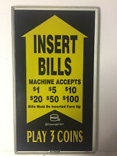 IGT Slot Glass,^^machine accepts $1 $5 $10 $20 $50 $100 Pay 3 Coins (855-807-00)