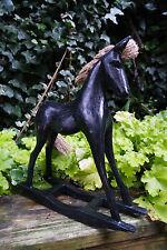 In legno cavallo a dondolo, Francese Shabby Chic-BELLISSIMO REGALO