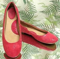 BORN PINK FLORAL LEATHER LOAFERS SLIP ONS DRESS SHOES MOCCASINS US WOMENS SZ 8 M