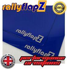 Ford Focus RS Mk1 RallyflapZ mudflaps Mud Flaps & Fijaciones Azul Plata 4mm PVC rf
