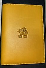 Coach x Disney Mickey Mouse Leather Passport Case GloveTanned Genuine Yellow