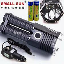 SMALL SUN 2500 LUMEN TACTICAL XM-L T6 LED FLASHLIGHT + 2x BATTERY CHARGER ZY-T07