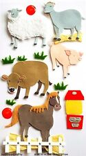 EK SUCCESS JOLEE'S 3-D STICKERS  ANIMALS SHEEP HORSE COW PIG GOAT - PETTING ZOO