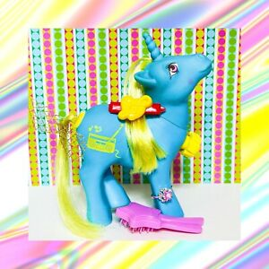 ❤️My Little Pony G1 VTG DJ Dance 'n Prance Music Radio Unicorn Tail Spins COMB❤️