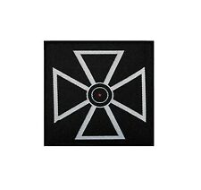 Iron Cross with Red Dot Woven Badge Applique Patch