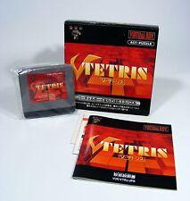 V-TETRIS für Nintendo Virtual Boy - komplett VB Modul, Anleitung, OVP 3D Spiel