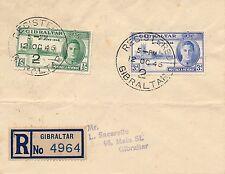 Lettre Recommandée Gibraltar Registered Cover