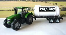 Wedding Day Gift Personalised Page Boy Name Green Farm Tractor  & Tanker Present
