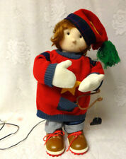 Santas Best Christmas Motion Animated Musical Singing Boy Doll