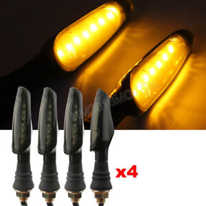 4x Motorcycle LED Turn Signal For Ducati Monster Triumph Sports Bike Cruiser