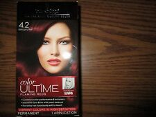 one box Schwarzkopf Ultime Hair Color Cream, 4.2 Mahogany Red