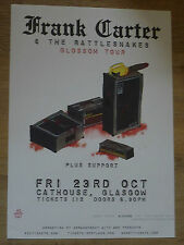 Frank Carter & The Rattlesnakes - Glasgow oct.2015 tour concert gig poster