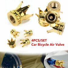 4pcs Car Motorcycle Gold Crown Tyre Tire Wheel Stem Air Valve Caps Dustproof