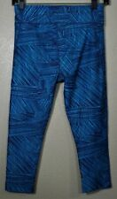 Under Armour Heat Gear Woman'S Compression Crop Capri Yoga Pants Size: Sm Blue