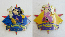 Set of 2 Mickey & Minnie Mouse Graduation 2001 Disney Pin ~DP3