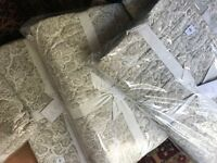 Pottery Barn Clio Coverlet Set Flax King 2 King Shams Floral Reversible Quilt