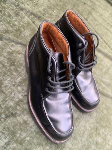 """Rockport Black Leather High Ankle Shoe Size UK 9.5 US 10 EUR 44 Ref.M520"""""""