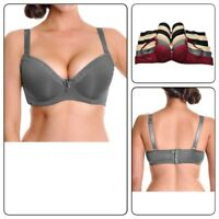 Angelina Wired Plus Size Back Smoothing Bras with Lace Accent (38DDD-42DDD)
