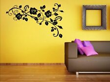 Amazing Roses - Large Corner Wall Stickers Decal Decor. High Quality. NEW UK