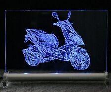 Motorroller Scooter Roller als Gravur LED Leuchtschild