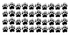 Dog Paw Prints Decals, Set of 40 Domestic Dog Paws Vinyl Stickers, own design
